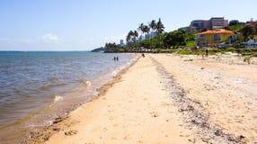 Maputo strandsikt Arkivfoto