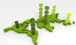 mapy świat Zdjęcie Stock