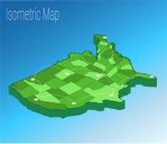 Mapy Ameryka isometric pojęcie Fotografia Royalty Free