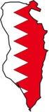 mapy bahrain wektora Zdjęcie Royalty Free