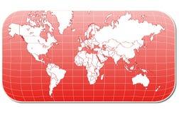 mapy czerwieni świat ilustracja wektor