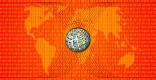 mapy czerwieni świat Fotografia Stock