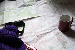 Mapy czytanie Obrazy Royalty Free