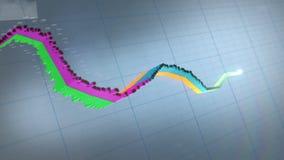 Mapy, dane i prętowi wykresy, zdjęcie wideo