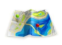 mapy droga Zdjęcia Stock
