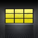 mapy ekranów wideo ściany świat Obrazy Stock