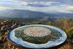 mapy gór orientacja Pyrenees Obraz Royalty Free