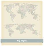 Mapy halftone wektor Fotografia Stock