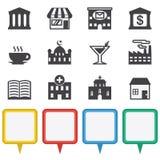 Mapy i lokaci ikony ustawiać ilustracji