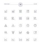 Mapy i wykresu ikony ustawiają, Wektorowa ilustracja Zdjęcie Royalty Free