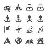 Mapy ikona ustawia 2, wektor eps10 ilustracji