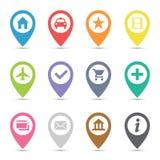Mapy ikony wałkowy set Fotografia Stock