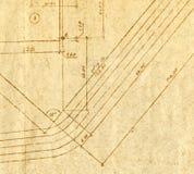mapy inżynierii rocznik obraz stock