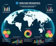 Mapy infographics 3d światowych map graficznego projekta szablonów wektoru ilustracja Zdjęcia Stock