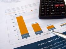 mapy inwestycja Zdjęcia Stock