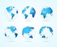 Mapy kuli ziemskiej set wektor Obraz Stock