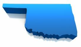 mapy Oklahoma konturu stan jednoczący Zdjęcia Stock