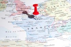 mapy Paris szpilka Zdjęcia Royalty Free