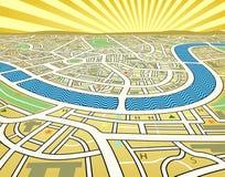 mapy perspektywy Zdjęcie Stock