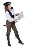 mapy pirata kobiety potomstwa Zdjęcia Stock