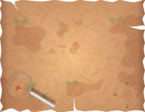 mapy pirata skarb Obraz Stock