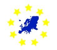 mapy politycznej Europy kontynentalna Zdjęcie Stock