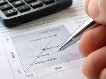 mapy ręki inwestycja Fotografia Stock