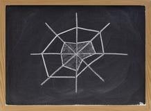 mapy radarowa pająka gwiazdy sieć Obraz Royalty Free
