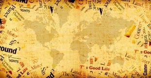 mapy rocznika świat Zdjęcia Stock