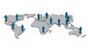 mapy sieci ludzie wold Zdjęcia Royalty Free