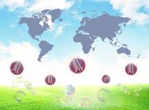 mapy sprzedaży świat Obrazy Royalty Free