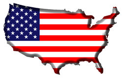 mapy stanów zjednoczonej ameryki Obrazy Stock
