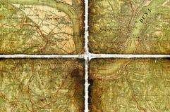 mapy stary część turysta Obrazy Stock