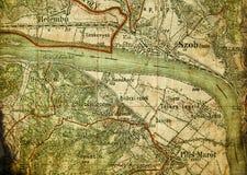mapy stary część turysta Fotografia Royalty Free