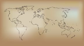 mapy stylizowany stary ilustracja wektor