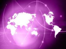 mapy stylowy technologii świat Fotografia Royalty Free