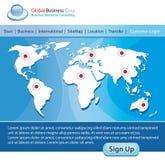 mapy szablonu strony internetowej świat Obraz Stock