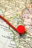 mapy szpilka Obrazy Stock