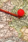 mapy szpilka Obrazy Royalty Free