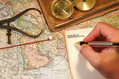 mapy szpilka Obraz Stock