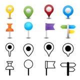 Mapy szpilka ilustracja wektor