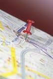 mapy szpilki pchnięcie Zdjęcia Royalty Free