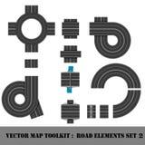 Mapy Toolkit. Odgórnego widoku pozycja. royalty ilustracja