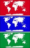 mapy świata Obrazy Stock