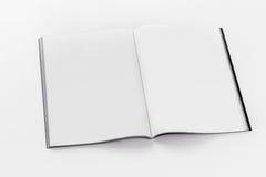 Maqueta abierta del folleto de la cubierta suave Imagen de archivo libre de regalías
