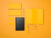 Maqueta amarilla de la identidad corporativa Imagen de archivo libre de regalías