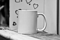 Maqueta blanca de la taza imágenes de archivo libres de regalías