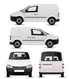 Maqueta blanca del vehículo comercial Fotos de archivo
