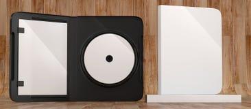 Maqueta CD de la caja plástica del disco del DVD Front View Imágenes de archivo libres de regalías