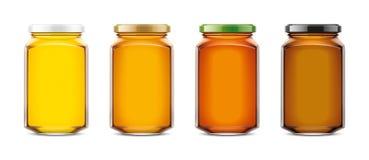 Maqueta clara de Honey Jar Tamaño grande ilustración del vector